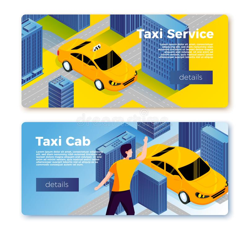 Vector taxi service banner templates concept vector illustration