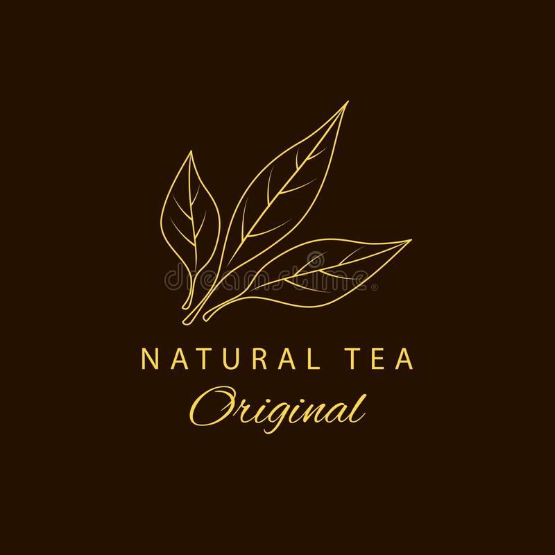 Vector Tea logotype. Natural tea. Beauty and cosmetics. Logotype in linear style. Vector Tea logotype. Natural tea. Beauty and cosmetics. Logotype for your vector illustration