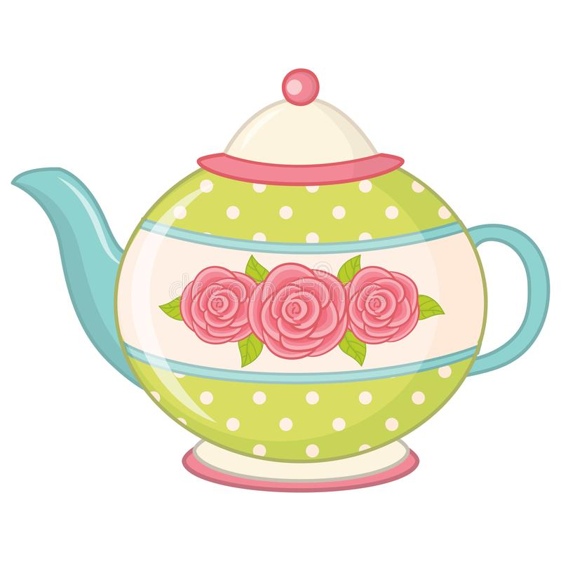 Vector Tea Pot. Teapot vector illustration vector illustration