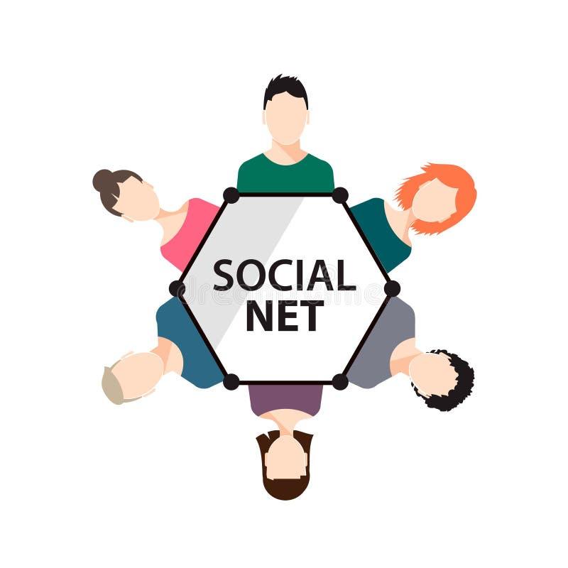 vector teamwork social net people group stock vector