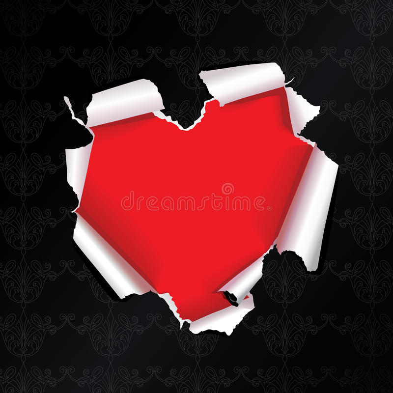 Free Vector Tear Paper Heart Stock Images - 9589564