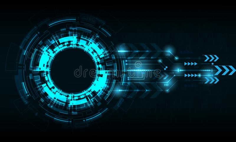 Vector tech circle with various technological. royalty free illustration