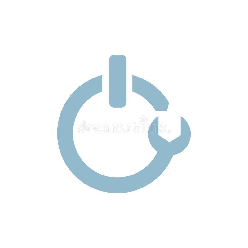 Vector tech logo creative design  illustration. Creative technical logo vector illustration simple minimal design flat modern royalty free illustration