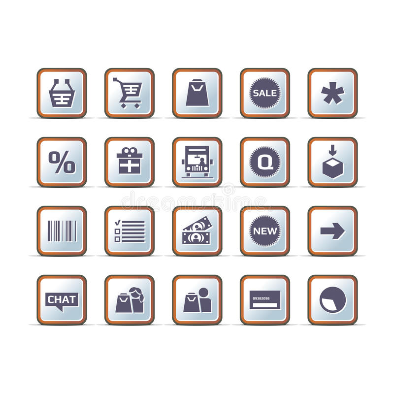 Vector Technical Ecommerce Icon Set Royalty Free Stock Photos