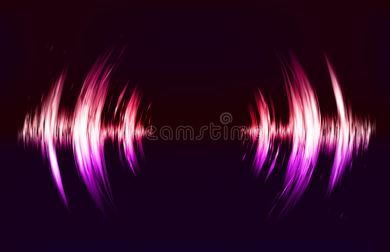 Vector techno background with crcular sound vibration. royalty free illustration