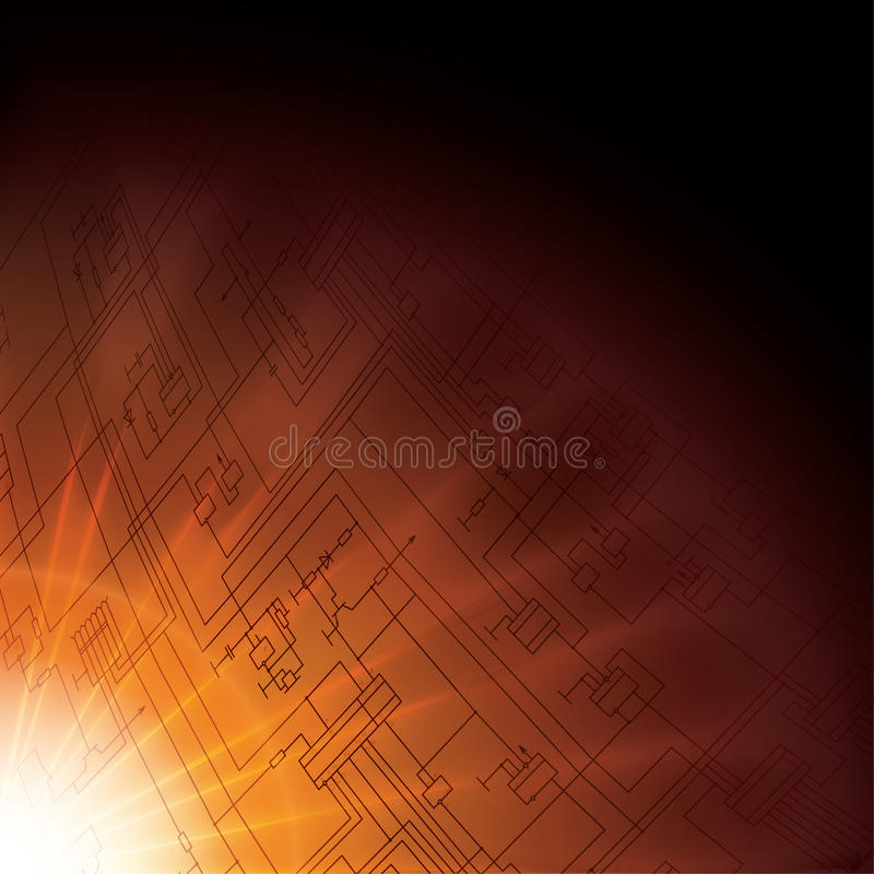 Vector technology background. eps10. Vector technology electronic schematic diagram background. eps10 royalty free illustration