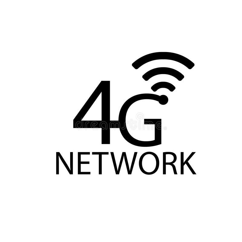 Vector technology icon network sign 4G. Illustration 4g internet symbol in flat line minimalism style. - Vector - Vector royalty free illustration