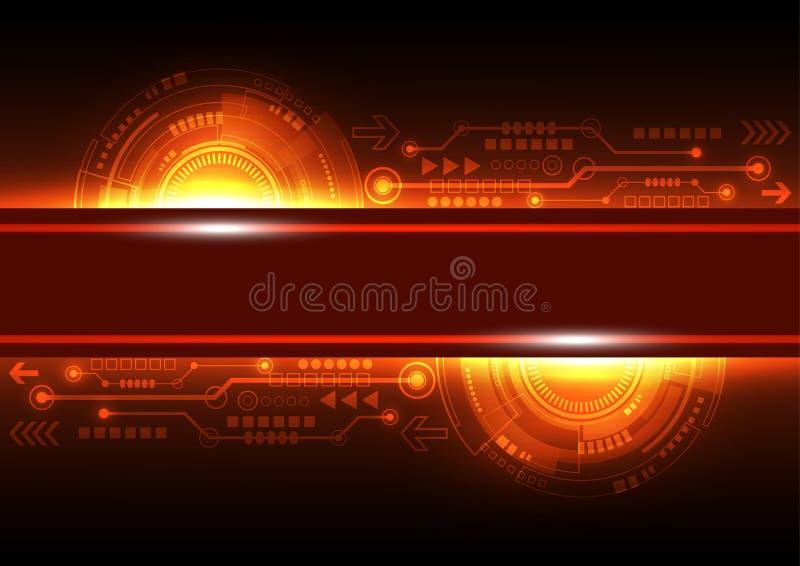 Vector a tecnologia futura das telecomunicações da rede, fundo abstrato ilustração royalty free