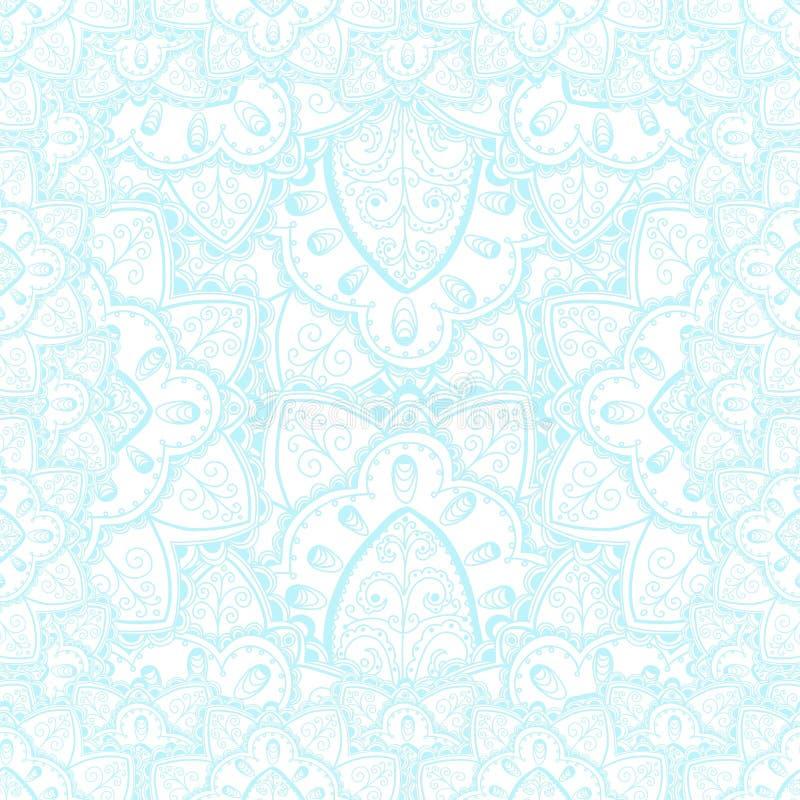 Vector teder kant vectorpatroon met krabbelbloemen royalty-vrije illustratie