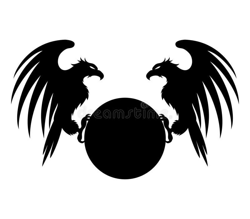 Vector Teken adelaars royalty-vrije illustratie