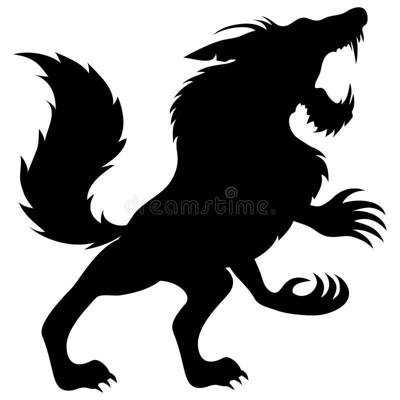 Vector Teken werewolf royalty-vrije illustratie