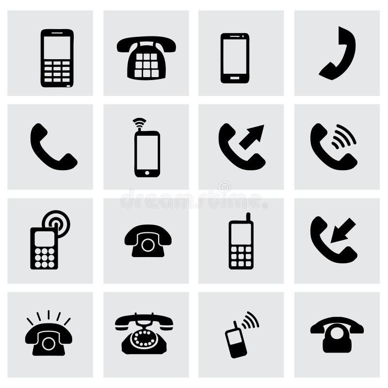 Vector telephone icon set stock illustration