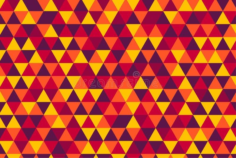 Vector telhas retros teste padrão do triângulo, cinco cores quentes ilustração royalty free