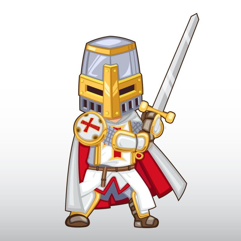 Vector Templar Knight Illustration stock photography