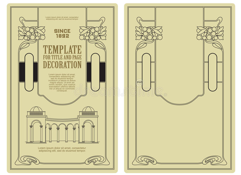 Vector template advertisements, invitations or other flyer. Advertisements, flyer, web, wedding and other invitations or greeting cards. Vector template royalty free illustration