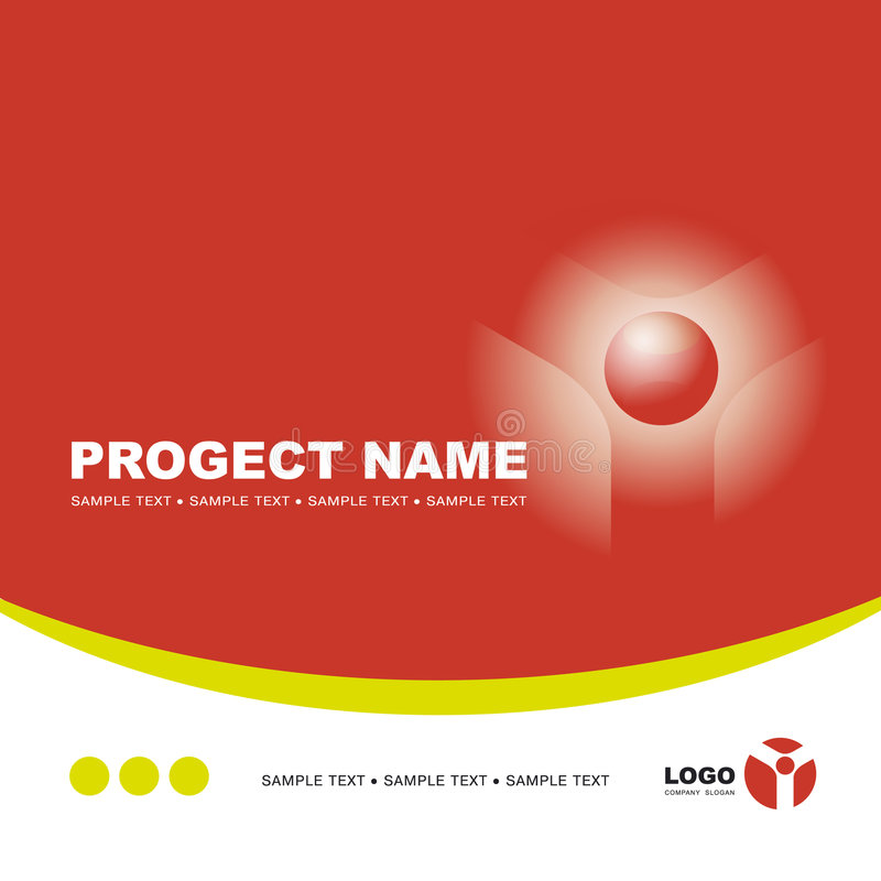 Download Vector Template Background With Logo Stock Vector - Image: 5457665
