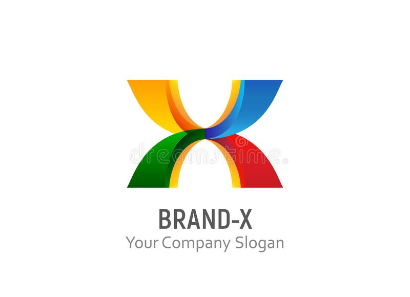 Brand X logo template vector royalty free stock images