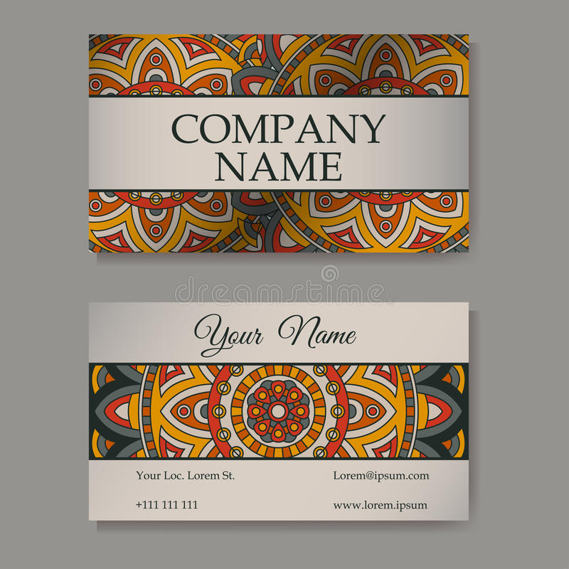 Vector Template Business Card. Geometric Background. Card Or ...