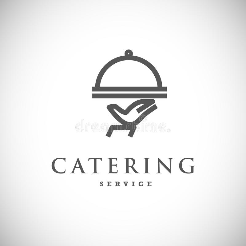 Vector template of catering company logo. stock illustration