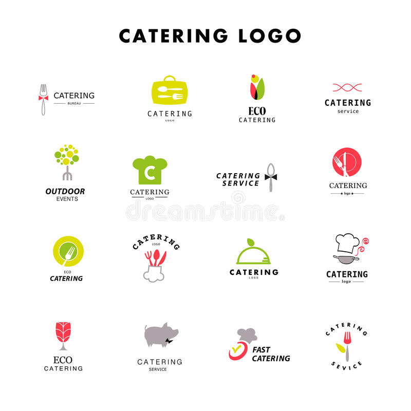 Vector template of catering company logo. royalty free illustration