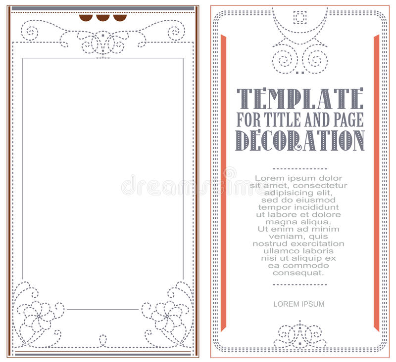 Vector template for the design of advertisements, flayer, web. Envelope, wedding and other invitations or greeting cards vector illustration