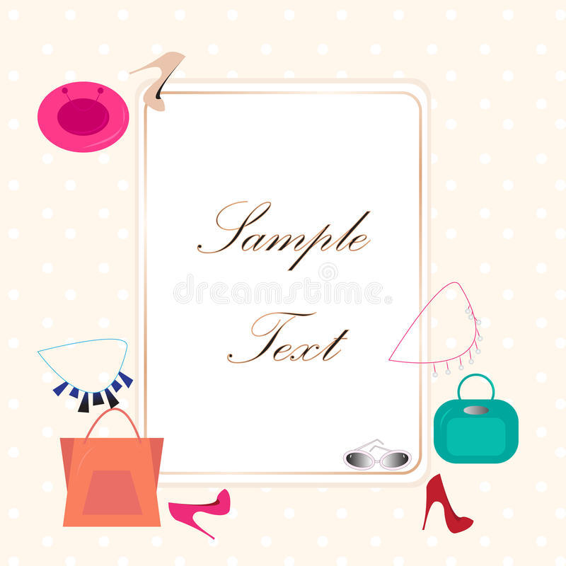 Vector template fashion, add your text royalty free illustration