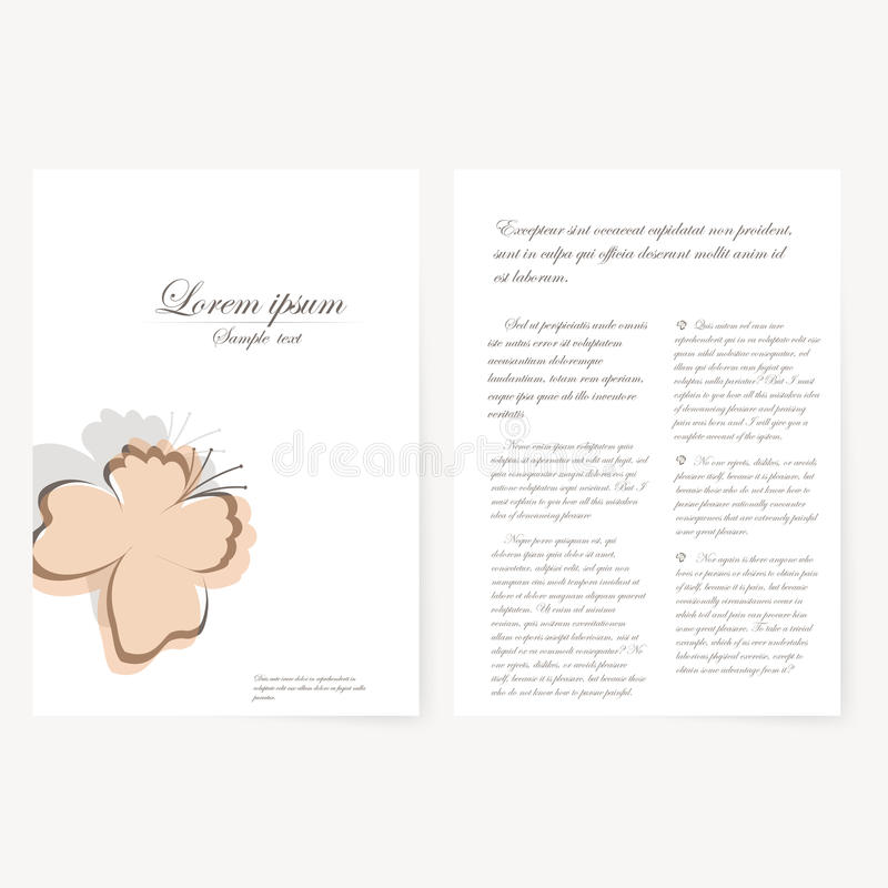 Vector template for folder, business card and. Vector template for folder, brochure, business card and birthday invitation vector illustration