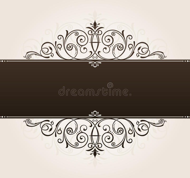 Free Vector Template For Text Background. Vintage Frame Royalty Free Stock Image - 25867306