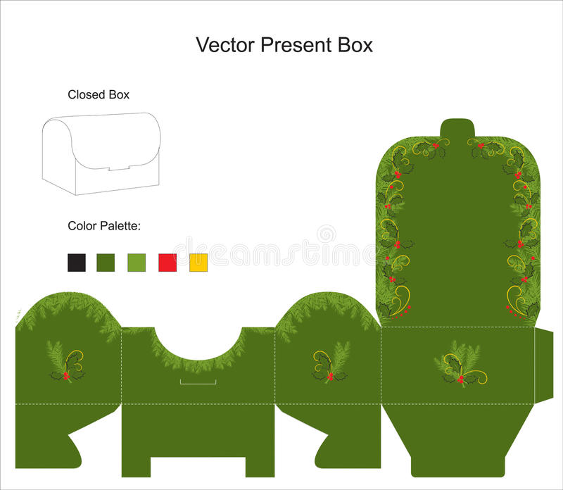 Vector Template For Gift Box Stock Vector Illustration of