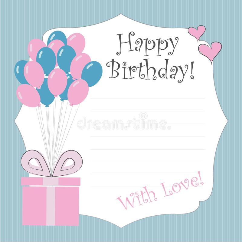 Download Vector Template Illustration Happy Birthday Stock
