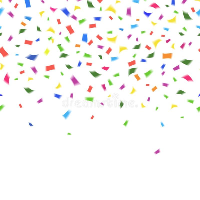Free Vector Template Of Vibrant Colorful Confetti Stock Image - 39797101