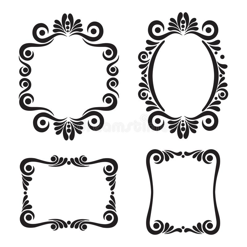 collection of decorative frames in vintage style stock vector rh dreamstime com vintage vector frames and borders free vintage vector frames free