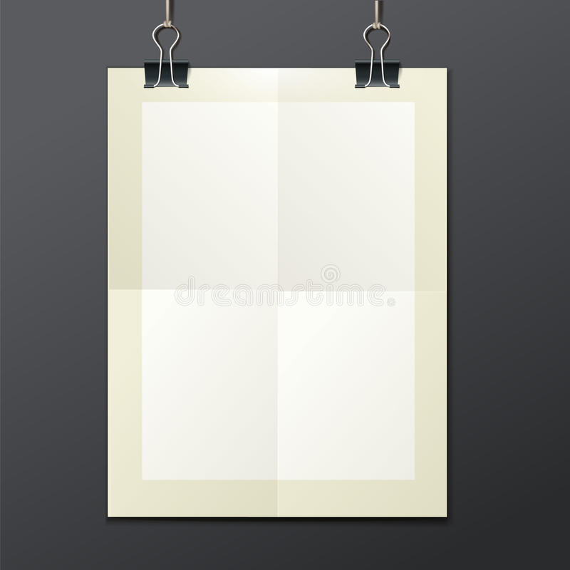 Vector template of a paper sheet -poster, picture stock illustration