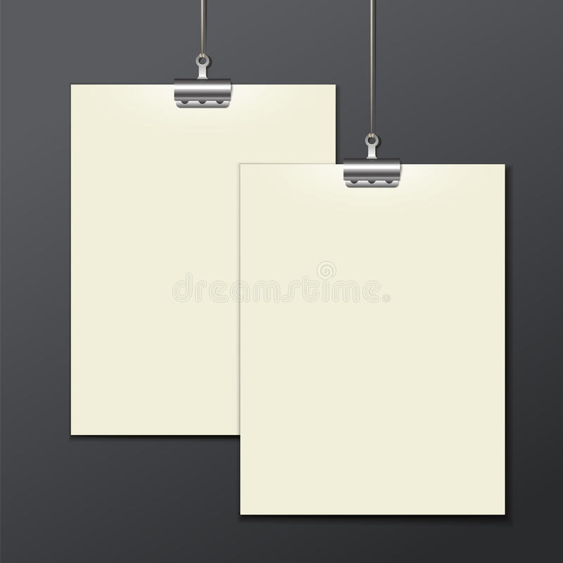 Vector template of a paper sheet -poster, picture vector illustration