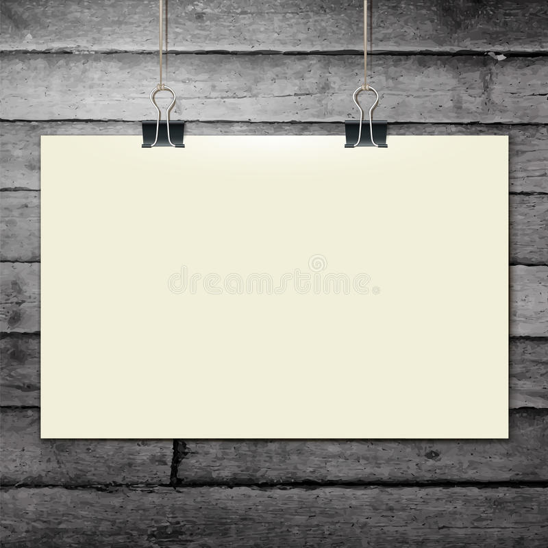 Vector template of a paper sheet -poster, picture royalty free illustration