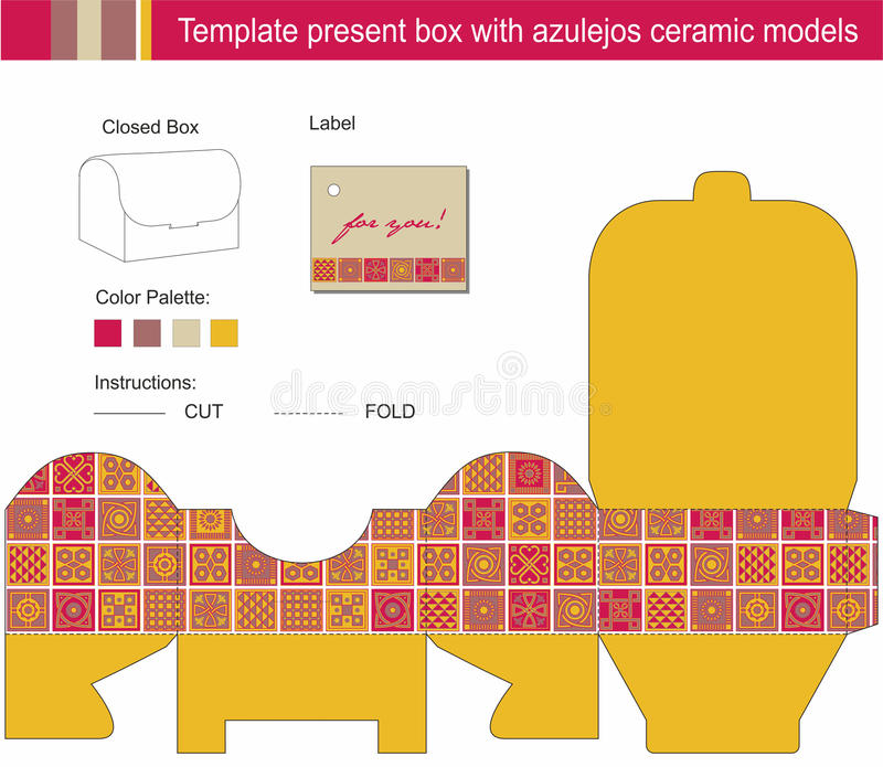 Vector Template For Present Box Stock Vector - Illustration of gift ...