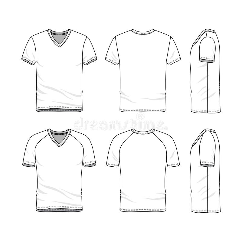 Vector Templates Of Blank T-shirt Stock Vector - Illustration of ...