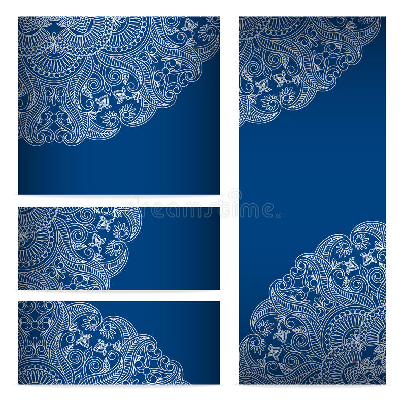 Vector templates floral pattern graphic designs. Birthday or invitation card