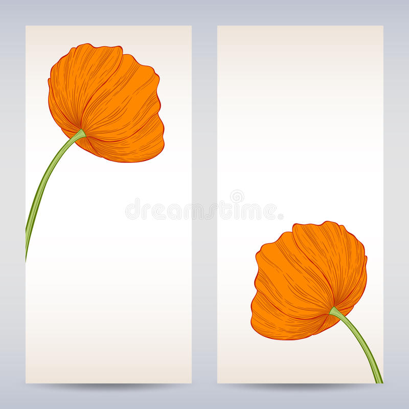 Download Vector Templates Poppies Graphic Designs. Stock Vector - Image: 39712613
