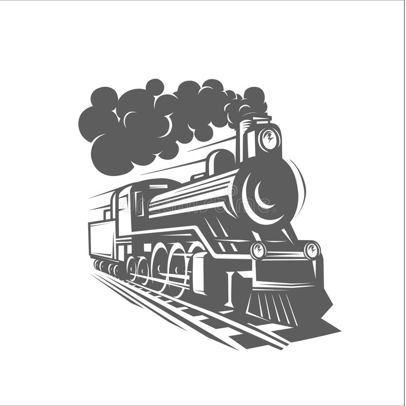 Free Vector Templates With A Locomotive, Vintage Train, Logotype, Illustration. Stock Photos - 115055983
