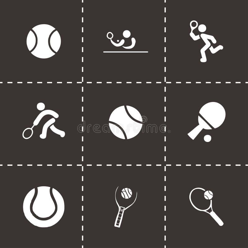 Vector tennis icon set vector illustration