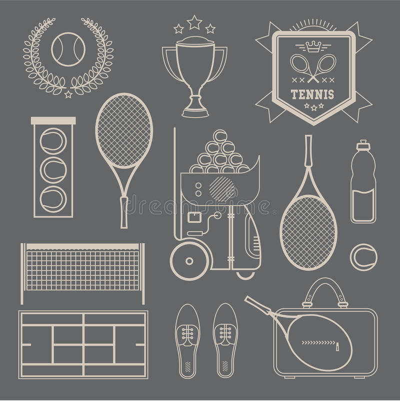 Free Vector Tennis Icons Stock Image - 30329151
