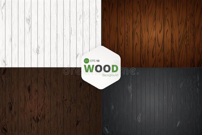 Vector a textura de madeira painéis velhos do fundo Textura de madeira do vintage retro do Grunge, fundo do vetor ilustração do vetor