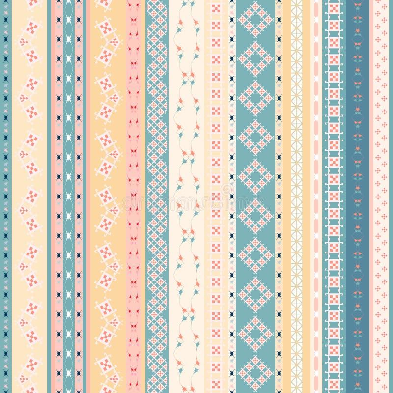 Vector a textura sem emenda étnica mexicana tribal, teste padrão ilustração royalty free