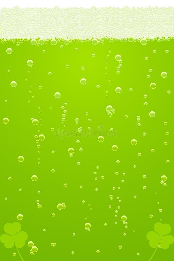 Vector a textura verde da cerveja para o dia do St. Patricks
