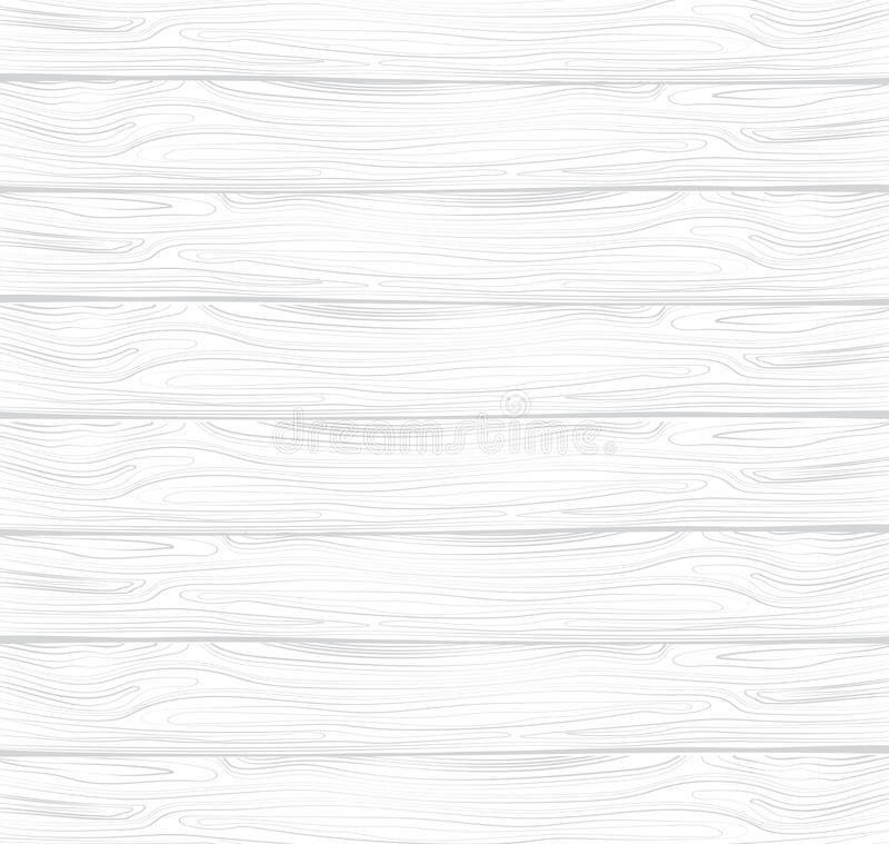 Vector texture of white wood. White wooden lining. Board with the texture of the tree. Background. stock illustration