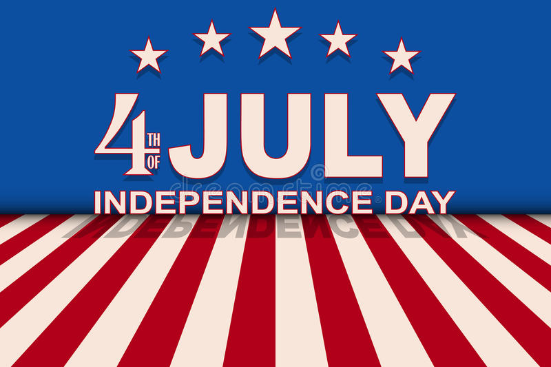 Vector 4th of July background with stars and stripes. Template for USA Independence Day. stock illustration