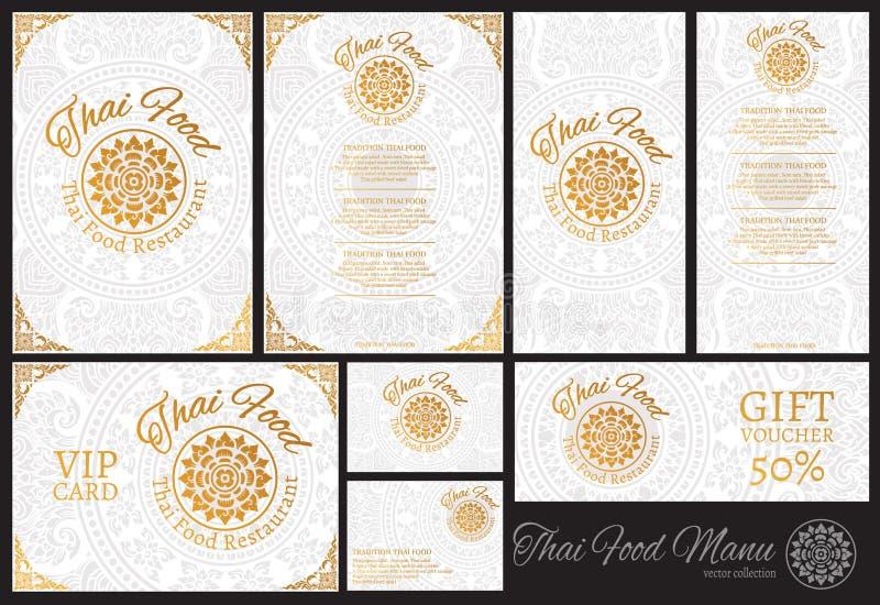 Vector thai food restaurant menu template.thai tradition. Background royalty free illustration