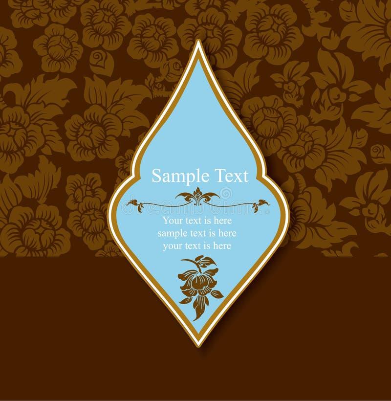Vector of Thai Ornament Pattern Design royalty free illustration