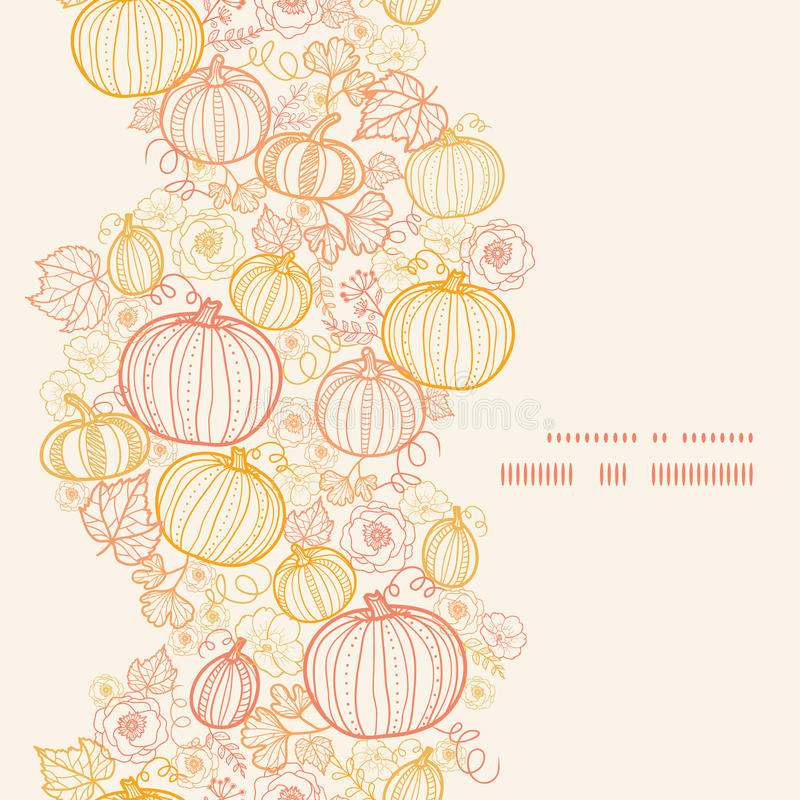 Free Vector Thanksgiving Line Art Pumkins Vertical Royalty Free Stock Images - 45132409